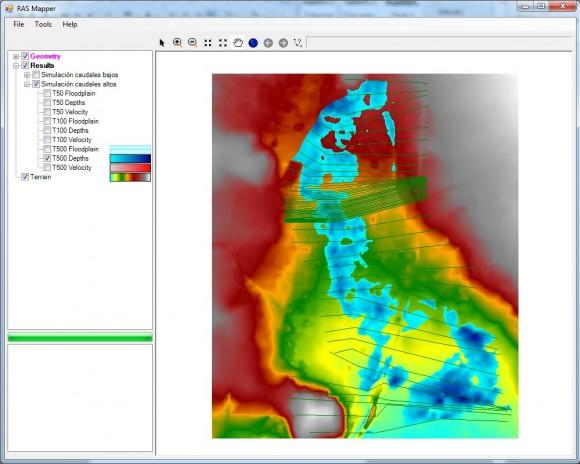 obtener límites de inundación en HEC-RAS