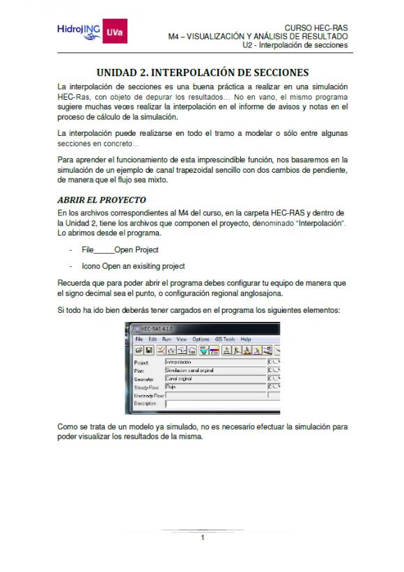Muestra guion Curso Online HEC-RAS