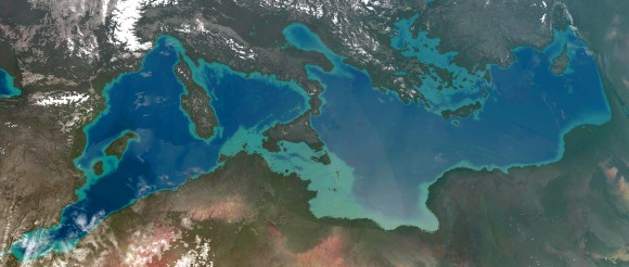 Vista aérea del hipotético Mediterráneo en Alantropa
