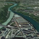 Confluencia de rios_Rodano y Arve