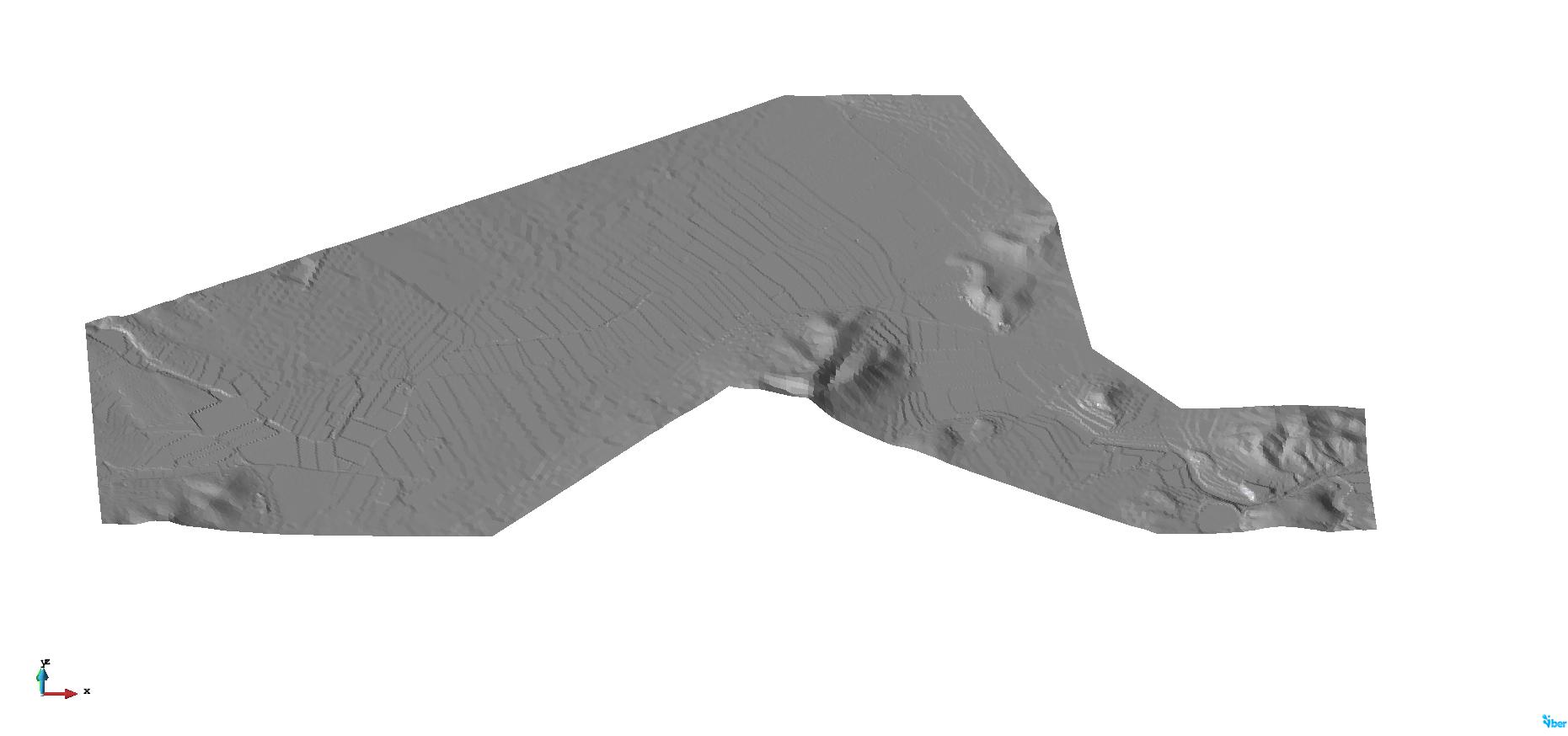 Geometria del modelo hidraulico