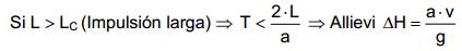 Calcular el golpe de ariete_criterio Allievi