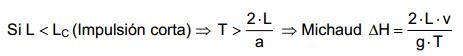 Calcular el golpe de ariete_criterio Michaud
