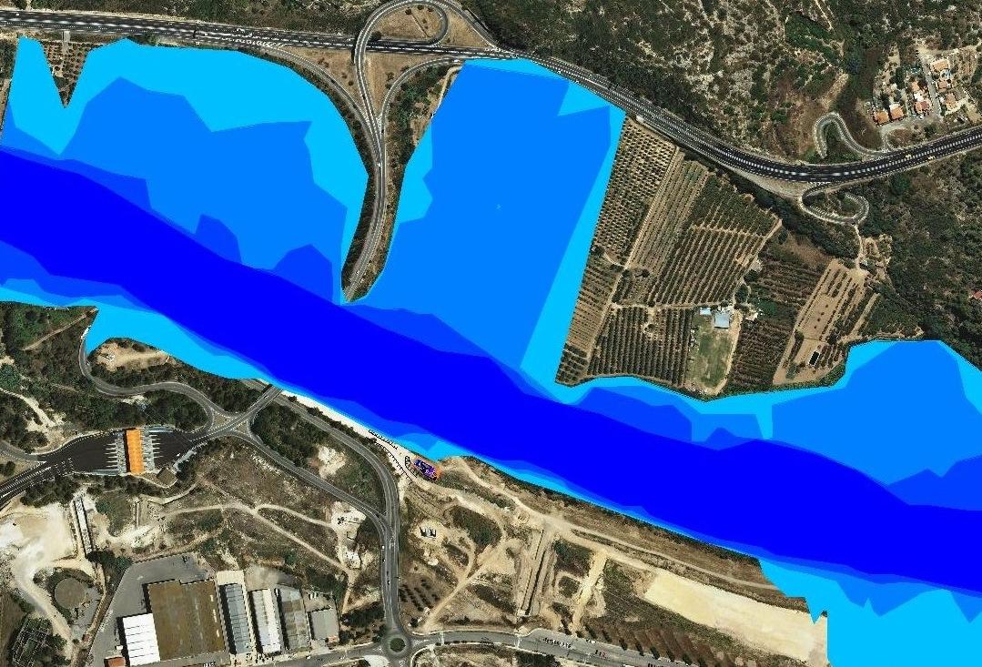 Estudio de inundabilidad en un tramo del río Francolí