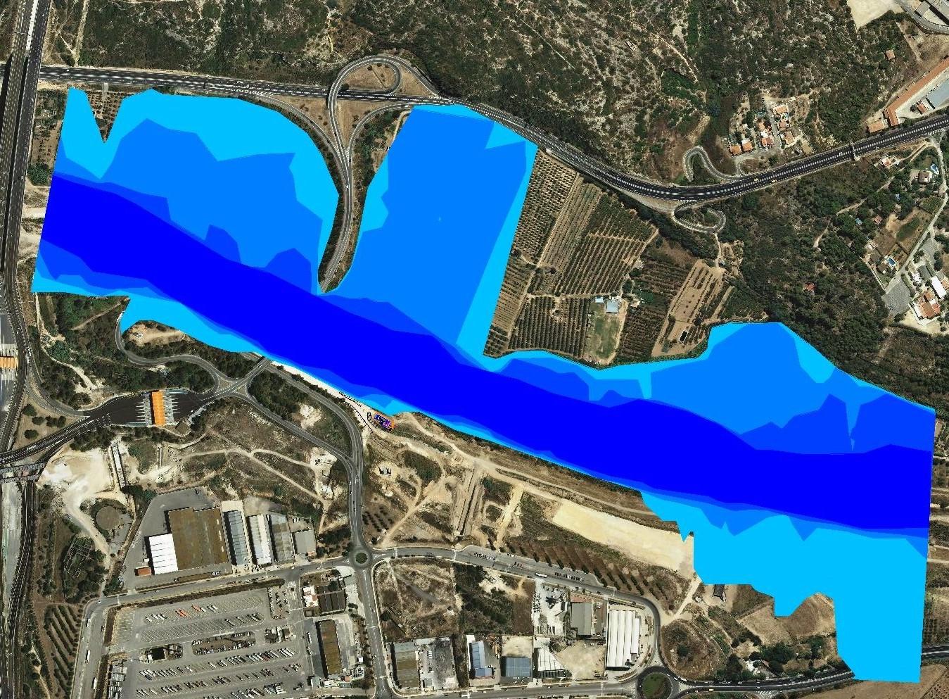 Estudio inundabilidad tramo rio francoli