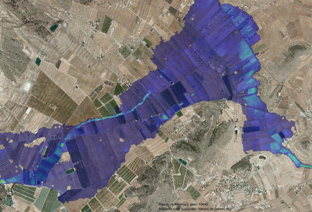 Modelización hidráulica de tramo de torrente en Alicante
