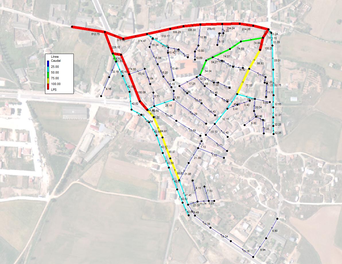 Modelizacion red saneamiento poblacion burgos