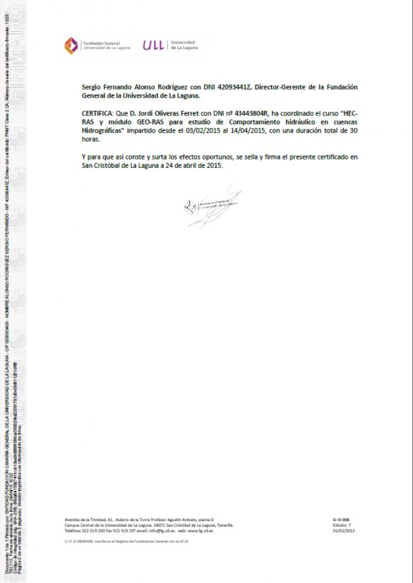 Certificado curso ULL 2015