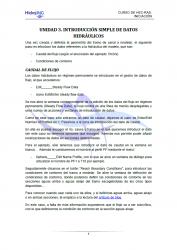 Descarga guion imprimible de la Unidad 3